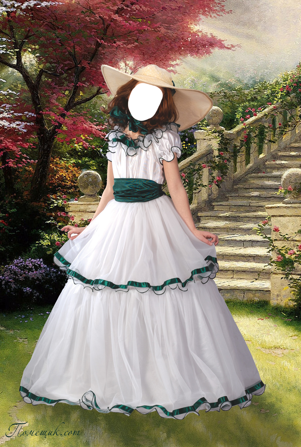 Роскошный шаблон для женского фотомонтажа, использовав который вы превратитесь в прекрасную леди в бальном наряде