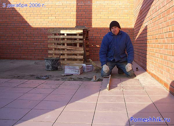 Тротуарная плитка для гаража своими руками 25