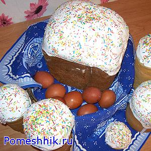 Пасхальный кулич на закваске в хлебопечке