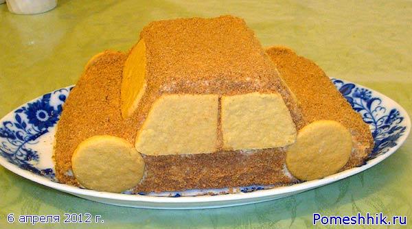 бисквитный торт машинка