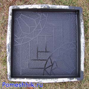 Пластиковая форма для тротуарной плитки